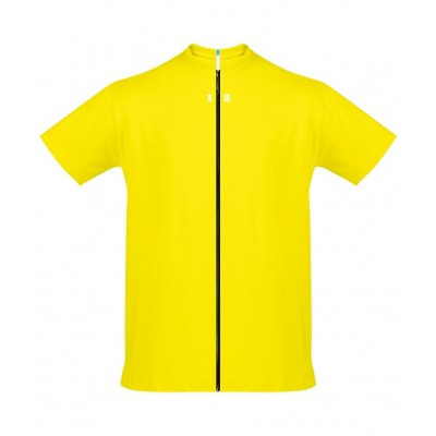 T-shirt separable man short sleeve lemon yellow