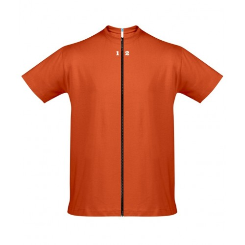 T-shirt separable man short sleeve orange