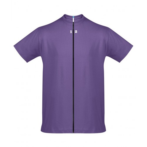 T-shirt separable man short sleeve purple