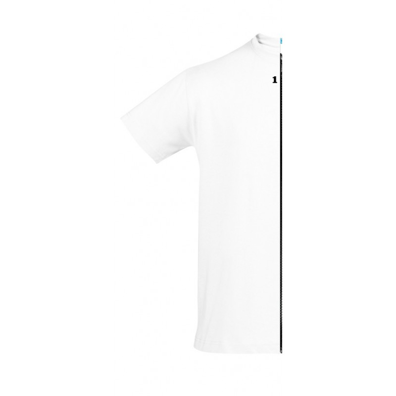 Home T-shirt bicolor man short sleeve left part white - 12teeshirt.com