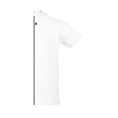T-shirt bicolor man short sleeve right part white