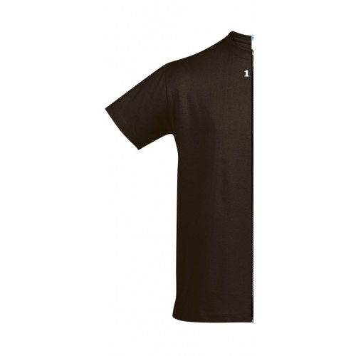 T-shirt bicolor man short sleeve left part chocolat