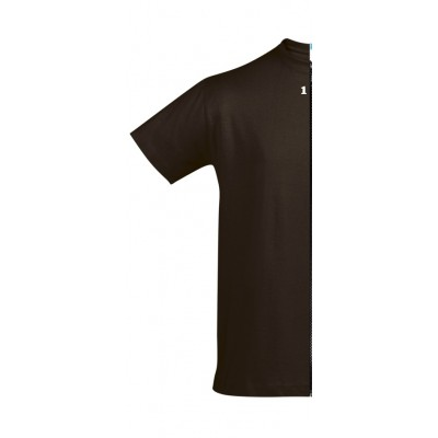 Home T-shirt bicolor man short sleeve left part chocolat - 12teeshirt.com
