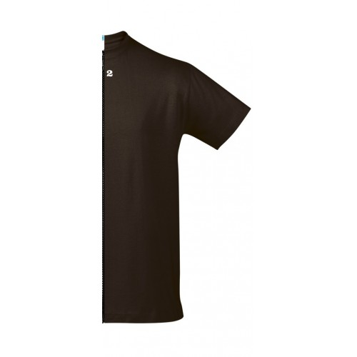 T-shirt bicolor man short sleeve right part chocolat