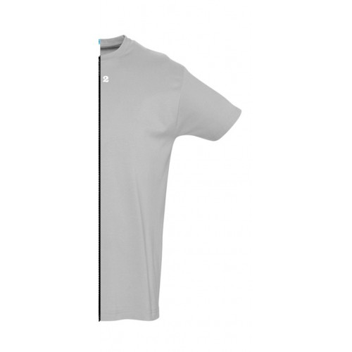 T-shirt man short sleeve grey melange