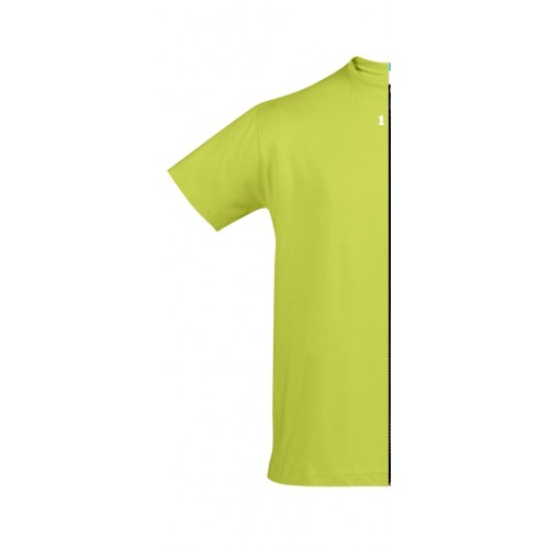T-shirt man short sleeve apple green