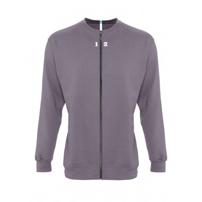 Sweat-shirt séparable homme gris flanelle