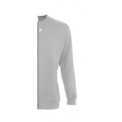 Sweat-shirt bicolore homme côté droit gris chiné