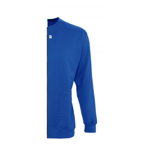 Sweat-shirt bicolore homme côté droit bleu royal