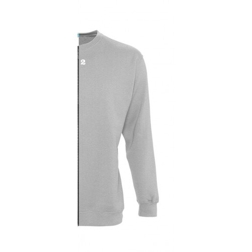 Sweat-shirt bicolore femme côté droit gris chiné