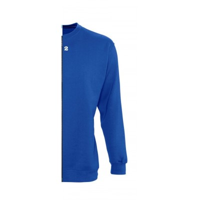 Sweat-shirt bicolore femme côté droit bleu royal