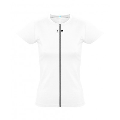 T-shirt separable woman short sleeve white
