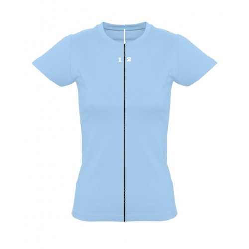 T-shirt separable woman short sleeve sky blue