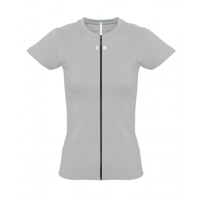 T-shirt separable woman short sleeve grey melange