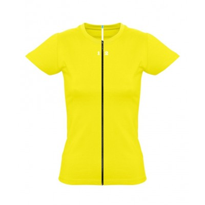 T-shirt separable woman short sleeve lemon yellow