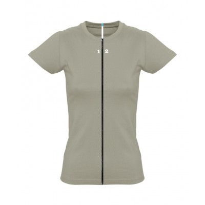 T-shirt separable woman short sleeve khaki