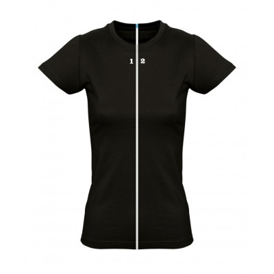 Home T-shirt separable woman short sleeve black - 12teeshirt.com