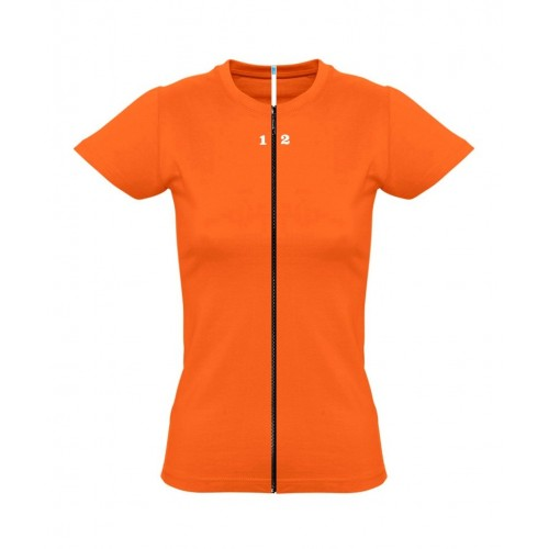T-shirt separable woman short sleeve orange