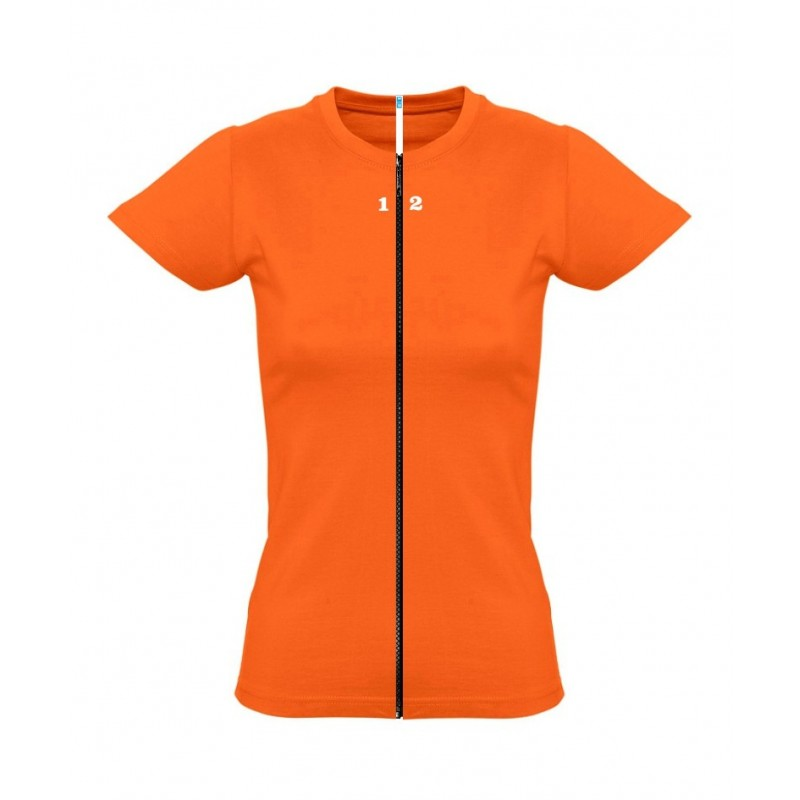 Home T-shirt separable woman short sleeve orange - 12teeshirt.com
