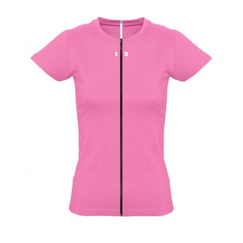 T-shirt separable woman short sleeve orchid pink