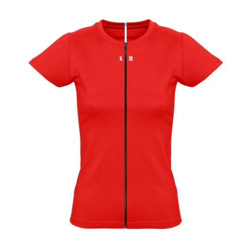 T-shirt separable woman short sleeve red