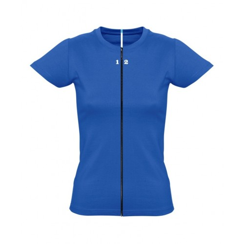 T-shirt separable woman short sleeve royal blue