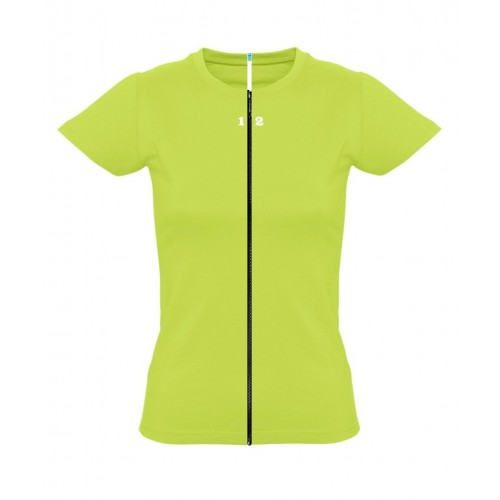 T-shirt separable woman short sleeve apple green
