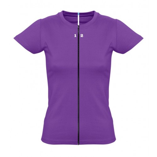 T-shirt separable woman short sleeve purple