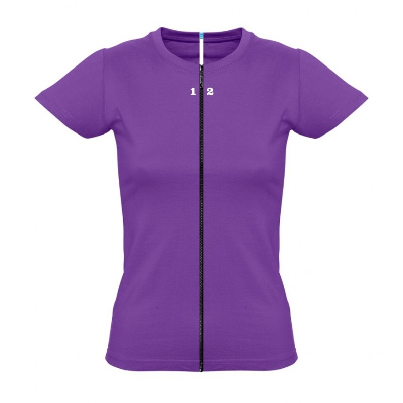 Home T-shirt separable woman short sleeve purple - 12teeshirt.com