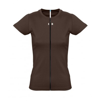 Home T-shirt separable woman short sleeve chocolat - 12teeshirt.com