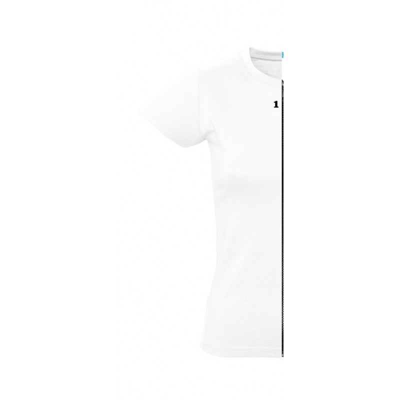 Home T-shirt woman short sleeve white - 12teeshirt.com