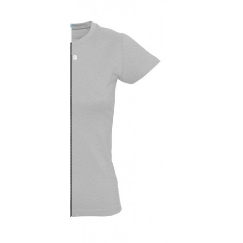 T-shirt woman short sleeve grey melange
