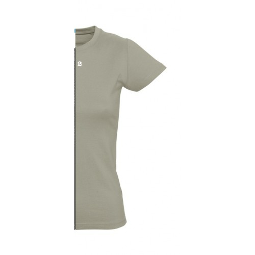 T-shirt woman short sleeve khaki