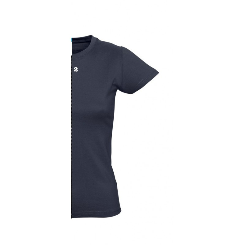 Home T-shirt woman short sleeve navy blue - 12teeshirt.com