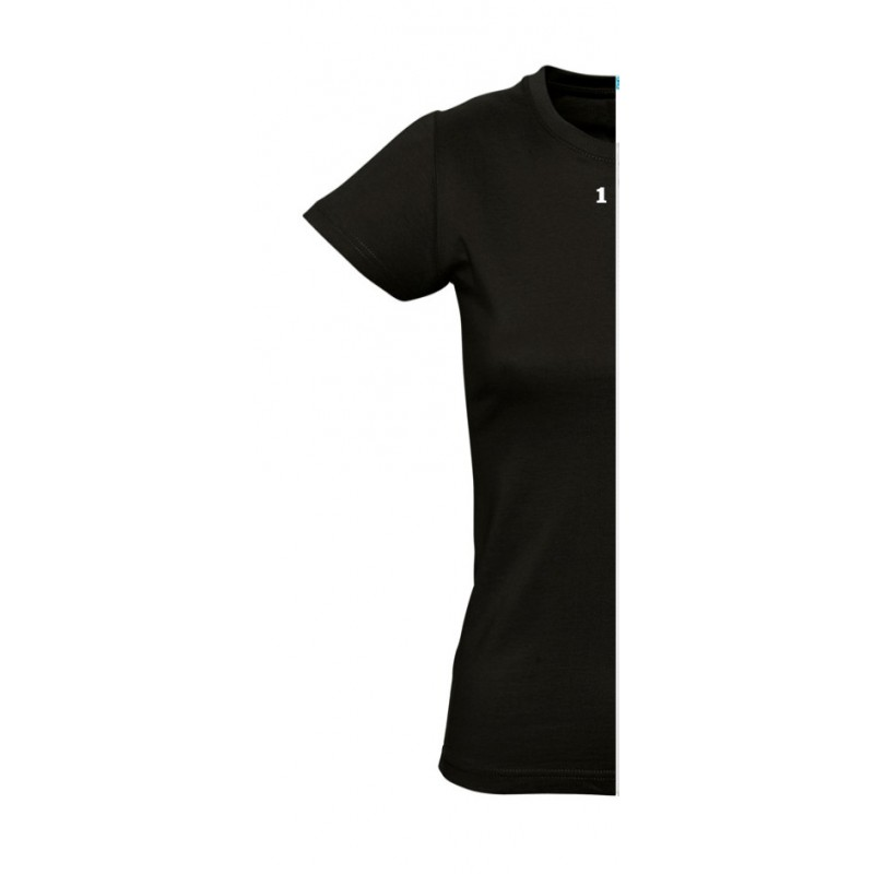 Home T-shirt woman short sleeve black - 12teeshirt.com