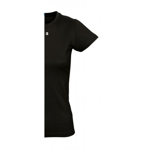 T-shirt woman short sleeve black
