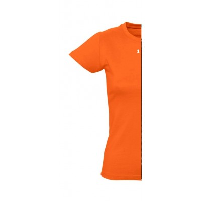 T-shirt woman short sleeve orange