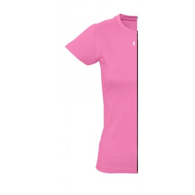 Home T-shirt woman short sleeve orchid pink - 12teeshirt.com