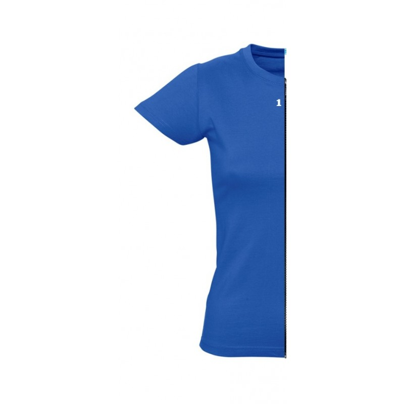 Home T-shirt woman short sleeve royal blue - 12teeshirt.com