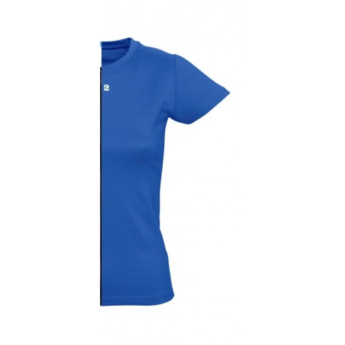 T-shirt woman short sleeve royal blue