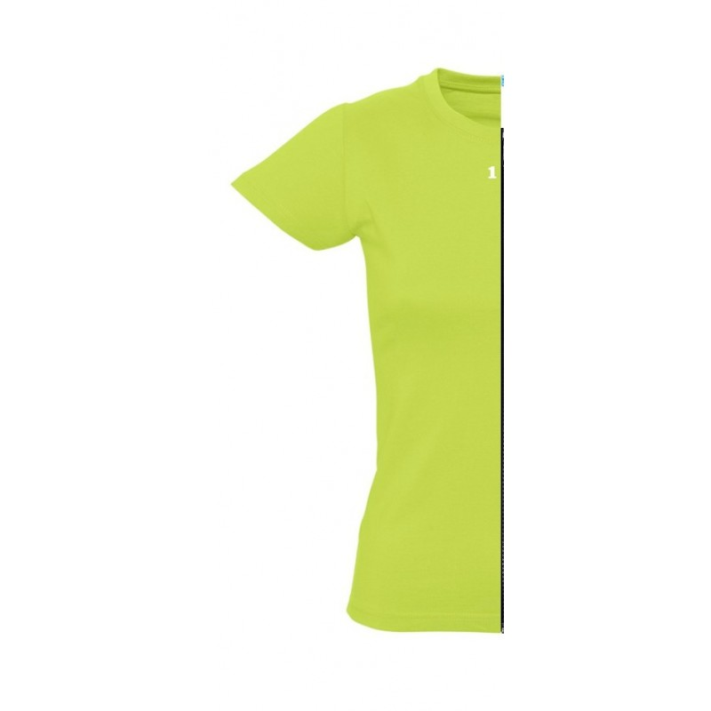 Home T-shirt woman short sleeve apple green - 12teeshirt.com