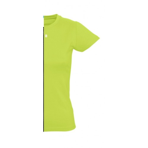 T-shirt woman short sleeve apple green