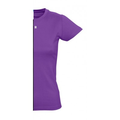 T-shirt woman short sleeve purple