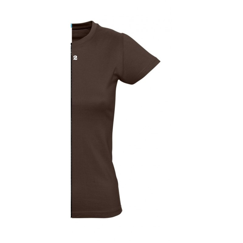 Home T-shirt woman short sleeve chocolat - 12teeshirt.com