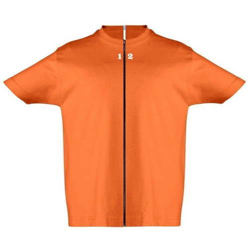T-shirt separable children short sleeve orange