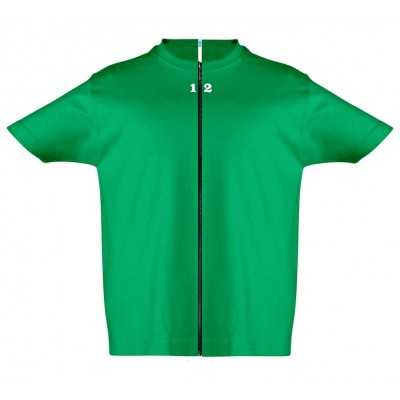 T-shirt separable children short sleeve green