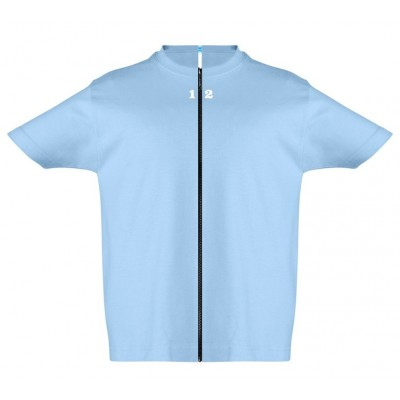 T-shirt separable children short sleeve sky blue