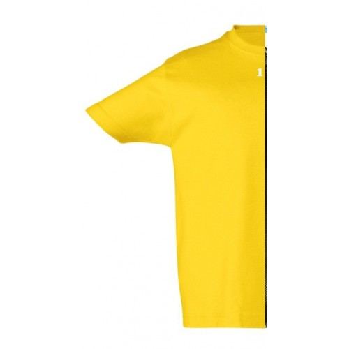 T-shirt children short sleeve yellow