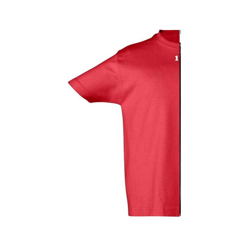 Home T-shirt children short sleeve rosso - 12teeshirt.com