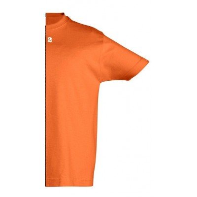 T-shirt children short sleeve orange